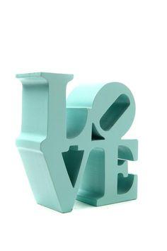 Turquoise love statue