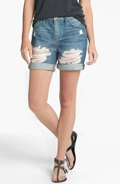 J Brand 'Nash' Destroyed Denim Shorts (Euphoria) available at #Nordstrom