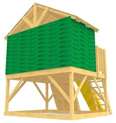 back view of elevated play-set