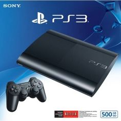 Sony PlayStation 3 Super Slim 500GB Charcoal Black Console PS3 Game Brand New #Sony