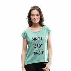 Boris Vian Frauen T-Shirt mit gerollten Ärmeln Shirts & Tops, Doce Banana, Boris Vian, Fashion Online Shop, Dress Down Day, Color Menta, Shirt Designs, Le Tennis, Glands