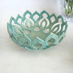 Mandala Bowl (small): Blue ceramic bowl, Table decor, Carved ceramics, handmade pottery, Decorative bowl, Wedding Gift, House Warming Gift by QuigleyCeramics on Etsy