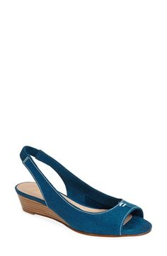 French Sole 'Namely' Slingback Wedge (Women) available at #Nordstrom