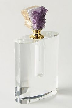 Agate Perfume Bottle Decorative Object by Anthropologie in Pink, Decor - Kayla Rose Decor - Perfume