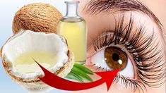 How to Get Thick and Long Eyelashes with Coconut Oil Thicker Eyelashes, Longer Eyelashes, Natural Health Remedies, Natural Cures, Natural Lubricant, Natural Coconut Oil, Health And Beauty Tips, Health Tips, Health Care