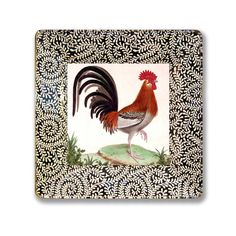 Rooster Collection Decoupage Wall Hanging