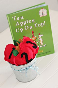 How to Make Apple Bean Bags + Game - Dr. Seuss Inspired Activity - Lil' Mrs. Tori