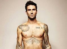 Obviously not the whole picture, but Adam Levine is one of my favorite sexy tattooed men!! Mmm
