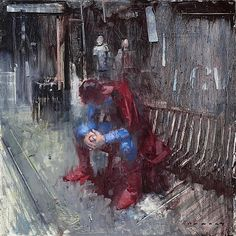 'Morbid' -  William Wray | former Ren & Stimpy Show artist and writer hangs out with superheroes and paints their daily lives.