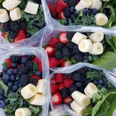 """{Favorote Green Smoothie Prep Packets🌱} And how to """"find """" more time each day😄 7 Days of Pre-made, drop into the blender-Green Morning Smoothies!  What I did for 1 week PREP today: (You can use ANY favorite combo of fruits or make these for any # servings/days -adjust!) 2 servings per day for 1 week: ■7 or more gallon Ziploc Freezer bags, large tupperware containers, OR large glass canning jars (if you have freezer space...can reuse ziplocs the next week, to prevent waste) Add to EACH…"""