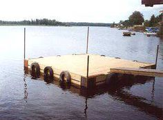 How to make a floating dock.
