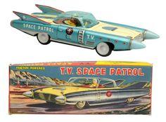 Lot # : 791 - Tin Litho Friction TV Space Patrol.