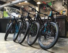 A full @yeticycles lineup fresh out of service and ready to rip. #squadgoals #ridedriven #yeticycles