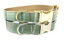 """""""Thanks for shopping Big Pup Pet Fashion. You are viewing a green plaid dog collar for boys or girls. This dog collar is designed cute autumn / fall plaid flannel-like cotton fabric, your choice of 2 nylon colors, and finished with a silver or gold buckle and hardware. Get a personalized dog collar with diamond etching by choosing the \""""engraved dog collar\"""" option in the drop down menu! The matching dog leash can also be found in the drop down menu. DOG COLLAR DESCRIPTION: - Green Flannel - lik Plaid Dog Collars, Puppy Collars, Cat Collars, Green Flannel, Plaid Flannel, Designer Dog Collars, Personalized Dog Collars, Fall Plaid"""