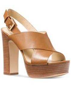 MICHAEL Michael Kors Mariana Slingback Platform Sandals | macys.com