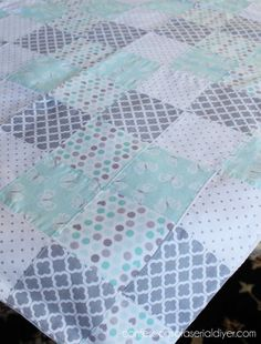How to Make a Baby Quilt from Receiving Blankets | Confessions of a Serial Do-it-Yourselfer