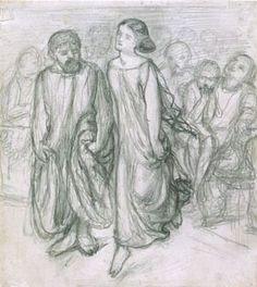 Aspasia teaching Socrates to dance (circa 1864)