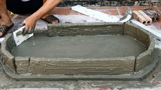 Idea of making rockery from styrofoam - Creative construction - Rockery from the sand and cement - ELENA Cement Art, Concrete Crafts, Concrete Projects, Outdoor Projects, Garden Projects, Cement Design, Fish Pond Gardens, How To Make Fish, Making Water