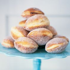 Sugganiyot, fried in oil, these jelly doughnuts are a traditional dessert for Hanukkah, marthastewart.com