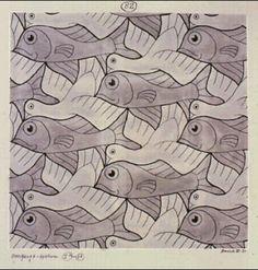Explore the beautiful art of M. Escher's work, and discover great products that feature the designs of this legendary artist. Escher Art, Mc Escher, The Artist, Artist Life, Mathematical Drawing, Tessellation Patterns, Tesselations, Math Art, Zentangle Drawings