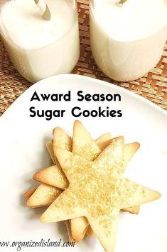 Award Sugar Cookies - Thin and crispy and perfect for award season! Award Sugar Cookies - Thin and crispy and perfect for award season! Chocolate Chip Shortbread Cookies, Toffee Cookies, Spice Cookies, Cut Out Cookies, Sugar Cookies Recipe, Yummy Cookies, Easy Cookie Recipes, Fudge Recipes, Baking Recipes