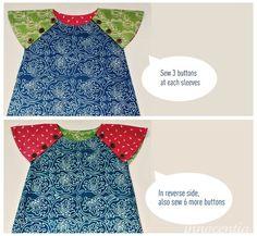 reversible dress (raglan sleeves)