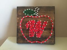 Teacher gift! PersonaliZed Apple string art. A personal favorite from my Etsy shop https://www.etsy.com/listing/245047894/teacher-gift-personalized-apple-string