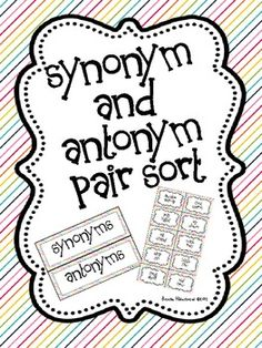 45 Best Synonyms And Antonyms Ideas Synonyms And Antonyms Antonyms School Reading