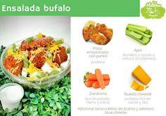 Ensalada recomendada para un viernes de antojo! Green Beans, Vegetables, Food, Dressings, Breakfast, Celery, Green Bean, Veggies, Vegetable Recipes