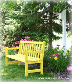 Cute but would want in white Outdoor Life, Outdoor Fun, Outdoor Decor, Outdoor Benches, Garden Benches, Outdoor Ideas, Outdoor Spaces, My Home Design, House Design
