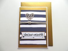 Nautical wedding card // Svatební přání v námořnickém stylu Nautical Wedding, Nautical Theme, Happy Mail, Some Ideas, Wedding Cards