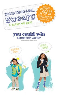 Are you ready for school? ENTER NOW and you could WIN a dream family vacation…