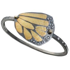 Monarch Butterfly Cuff by Rebecca Myers