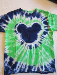 Mickey Tie Dye T-Shirt by ColorfulTieDye on Etsy