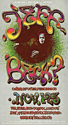 11/1-3/ 1968 .... Grande Ballroom Detroit  .    .....   Jeff Beck Group .... Toad ... McKenna Mendelson .... Mainline .... Joyful Wisdom .....   . artist ..... CARL LUNDGREN .