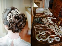 Art deco and The Great Gatsby inspired bridal headpieces by Isobel Hind Couture