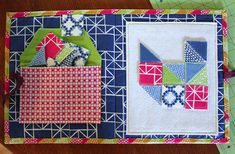 Tutorial for a quilted quiet book of tangram fun!