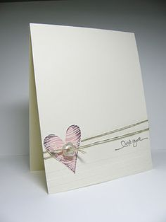 I (Heart) Hearts, Short & Sweet with Stripes embossing folder at bottom