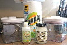 Save money! Make your own baby wipes.  Three More Weeks: Make your own wipes