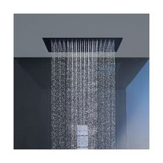 "Hansgrohe Starck Ceiling-Mount Square ""Shower Heaven"" Shower Head (65 025 SEK) ❤ liked on Polyvore featuring home, home improvement, plumbing and silver"