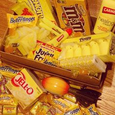 Mailed off a box full of sunshine (all things yellow) to someone who is a little blue.