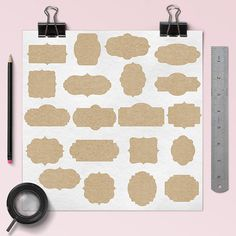 Kraft Paper Frame Clipart -  http://etsy.me/2aKTsS3 20 pieces of high quality kraft paper frames.