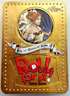 <strong>Roll+For+It!</strong>+is+a+casual,+family-friendly+dice+and+card+game.+Each+player+starts+the+game+with+six+dice+of+a+single+color,+and+three+target+cards+are+laid+face-up+on+the+table.+Players+take+turns+doing+the+following:+On+a+turn,+a+player+rolls+all+of+her+dice+not+already+on+cards,+then+places+any+dice+that+match+the+targets+on+the+corresponding+cards.+(Alternatively,+before+taking+her+turn,+a+player+can+first+choose+to+reclaim+all+of+her+dice+from+all+cards.)