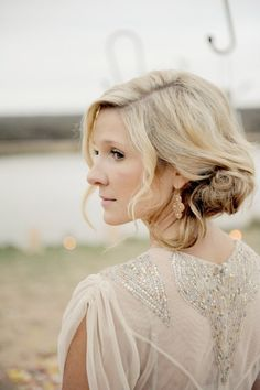 Pin for Later: 10 Wedding Hair and Makeup Ideas For the Rustic Fall Bride Style Your Hair in an Undone Updo Bridal updos don't have to be stuffy and sleek. An undone chignon plays well in the cool, Fall breeze.