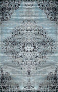 Beaumont Adileh Talisman Blue Rug,  #Adileh #Beaumont #Blue #Rug #Rugsusablue #Talisman Contemporary Area Rugs, Rugs Usa, Buy Rugs, Muted Colors, Throw Rugs, Blue Area Rugs, Rugs In Living Room, Room Rugs, Design Elements