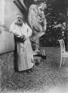 Francois Auguste Rene Rodin in his Meudon villa's garden,ca. 1900
