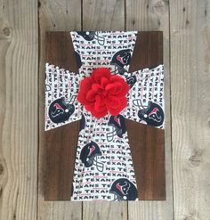 A personal favorite from my Etsy shop https://www.etsy.com/listing/263573696/houston-texans-fabric-cross-decor