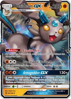 Obsideon GX (Rock Eeveelution) Custom Pokemon Card