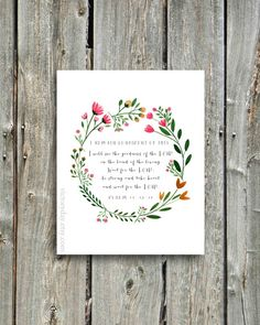 I Remain Confident Of This- Psalm 27:13-14- print of watercolor wreath painting