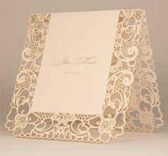 Chartula Laser Cut Lace Orné Invitation in Vintage Peach Lace Invitations, Invitation Cards, Wedding Cards Images, Wedding Invatations, Fairytale Weddings, Wedding Stationary, Anniversary Cards, Marry Me, Wedding Details